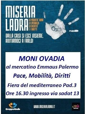 A Palermo, Moni Ovadia con Emmaus